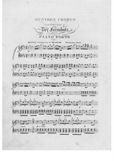Хор охотников и вальс: Для фортепиано by Карл Мария фон Вебер