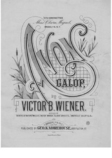 Avon Galop for Piano, Op.16: Avon Galop for Piano by Victor B. Wiener