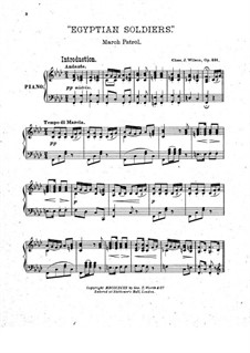 Egyptian Soldier. March for Piano, Op.491: Egyptian Soldier. March for Piano by Charles J. Wilson