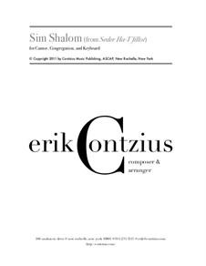 Sim Shalom (from 'Seder Ha-T'fillot'): Sim Shalom (from 'Seder Ha-T'fillot') by Erik Contzius