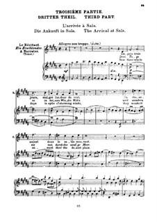 Детство Христа, H.130 Op.25: Прибытие в Саис, для голосов и фортепиано by Гектор Берлиоз