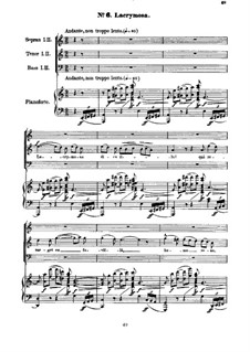 Реквием, H.75 Op.5: No.6-10 для хора и фортепиано by Гектор Берлиоз