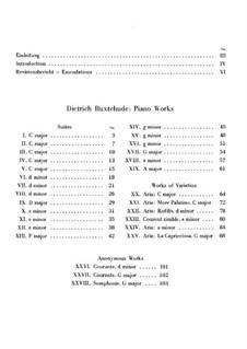 Пять сюит для органа до мажор: Версия для фортепиано by Дитрих Букстехуде