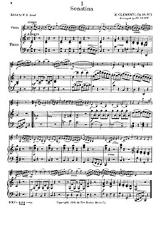 Сонатина No.1: Для скрипки и фортепиано by Муцио Клементи