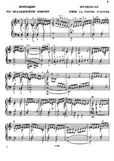 Вариации на итальянскую павану: Вариации на итальянскую павану by Антонио де Кабесон
