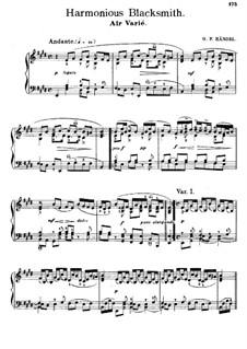 Сюита No.5 ми мажор, HWV 430: Часть III. Версия для фортепиано by Георг Фридрих Гендель