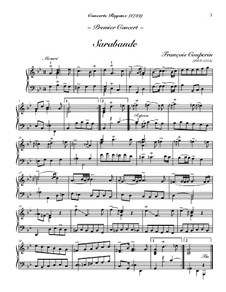 Концерт для клавесина No.1: Сарабанда и Гавот by Франсуа Куперен