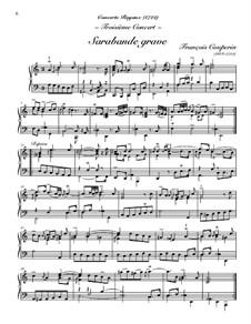 Concerto for Harpsichord No.3: Sarabande grave by Франсуа Куперен