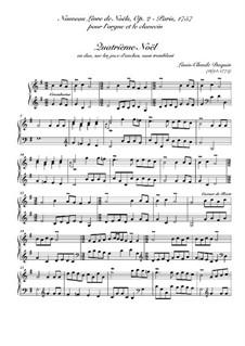 Nouveau livre de Noëls. Troisième Noël, Op.2: Для клавесина (or organ) by Луи Клод Дакен