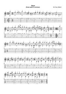 Сюита для гитары (ре минор): Жига by Robert de Visée