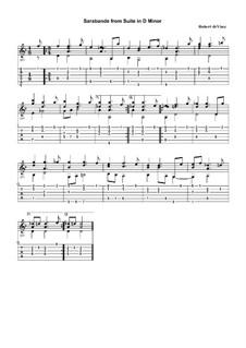Сюита для гитары (ре минор): Сарабанда by Robert de Visée