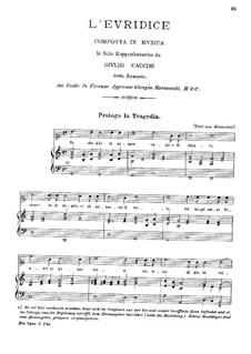 Эвридика: Клавир с вокальной партией by Джулио Каччини