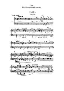 Сон Геронтия, Op.38: Часть I, для голосов и фортепиано by Эдуард Элгар