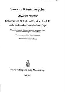 Stabat Mater: Клавир с вокальной партией (German and latin texts) by Джованни Баттиста Перголези