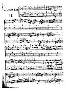 Двенадцать сонат для скрипки и бассо континуо, Op.5: Сонаты No.2-3 by Жан-Мари Леклер