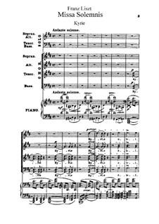 Missa solennis zur Einweihung der Basilika in Gran, S.9: Teile I-II by Франц Лист