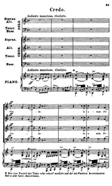 Missa solennis zur Einweihung der Basilika in Gran, S.9: Teile III-VI by Франц Лист
