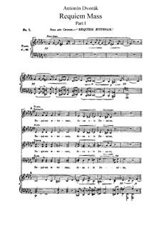 Реквием си-бемоль минор, B.165 Op.89: Часть I, для голосов и фортепиано by Антонин Дворжак