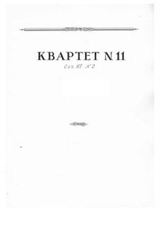 Струнный квартет No.11, Op.67 No.2: Партитура by Николай Мясковский