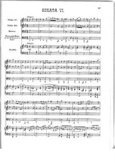 Десять трио-сона: Соната No.6 соль минор, Z 807 by Генри Пёрсел