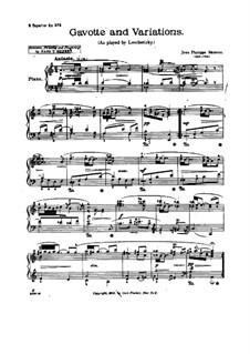 Гавот и вариации: Для фортепиано by Жан-Филипп Рамо