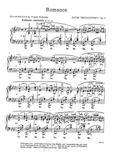 Романс для фортепиано, TH 127 Op.5: Для одного исполнителя by Петр Чайковский