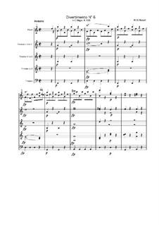 Дивертисмент до мажор, K.188: Часть IV by Вольфганг Амадей Моцарт