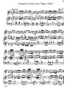 Ария Папагено: Для флейты и фортепиано by Вольфганг Амадей Моцарт