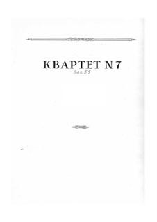 Струнный квартет No.7, Op.55: Струнный квартет No.7 by Николай Мясковский