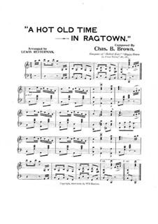A Hot Old Time in Ragtown: A Hot Old Time in Ragtown by Charles B. Brown
