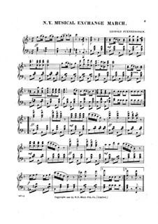 N. Y. Musical Exchange March: N. Y. Musical Exchange March by Leopold Fuenkenstein
