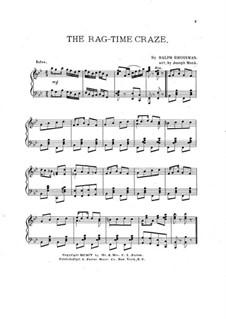 The Rag-Time Craze: Для фортепиано by Ralph Grossman