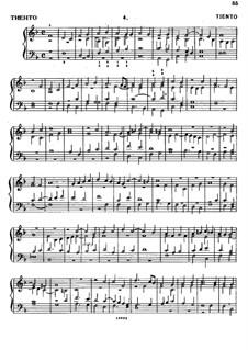 Тиенто No.4: Тиенто No.4 by Антонио де Кабесон
