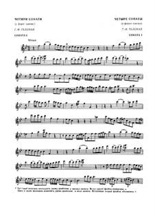 Шесть канонических сонат для двух флейт или двух скрипок, TWV 40:118-123: Сонаты No.1, 3, 4, 6 by Георг Филипп Телеманн
