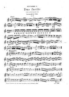 Легкий дуэт для двух гитар, Op.20: Партии by Леонгард фон Калль
