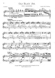 Old Black Joe: Для фортепиано by Стефен Фостер