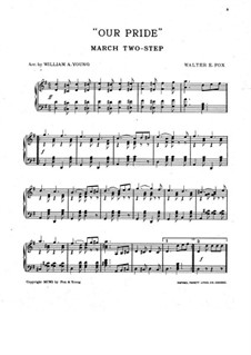 Our Pride, for Piano: Our Pride, for Piano by