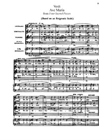 Четыре духовные пьесы: Для голосов и фортепиано by Джузеппе Верди