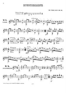 Дивертисмент, Op.16: Дивертисмент by Маттео Каркасси