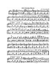 Марш Радецкого, Op.228: Для фортепиано by Иоганн Штраус (отец)