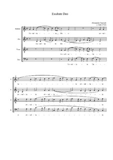 Exultate Deo: Вокальная партитура (C Major) by Алессандро Скарлатти