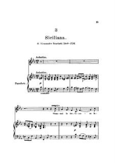 Сицилиана: Клавир с вокальной партией by Алессандро Скарлатти