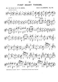 First Heart Throbs, Op.50: Аранжировка для гитары by Рихард Айленберг