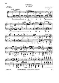 Соната для фортепиано ми минор, Op.7: Часть I by Эдвард Григ