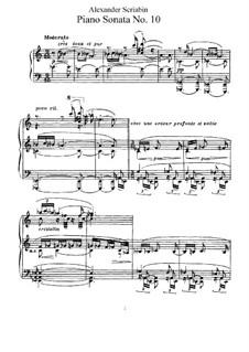 Соната для фортепиано No.10, Op.70: Для одного исполнителя by Александр Скрябин