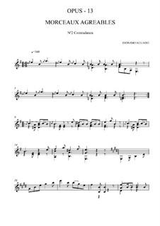 Morceaux agréables non difficiles, Op.13: No.2 Contredanse by Дионисио Агуадо