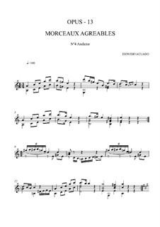 Morceaux agréables non difficiles, Op.13: No.4 Andante by Дионисио Агуадо
