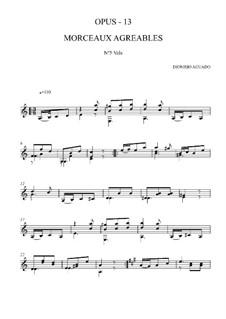 Morceaux agréables non difficiles, Op.13: No.5 Waltz by Дионисио Агуадо