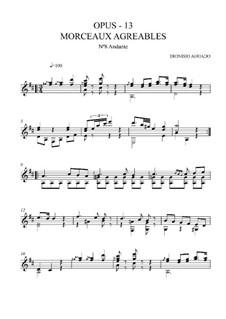 Morceaux agréables non difficiles, Op.13: No.8 Andante by Дионисио Агуадо