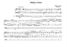 Десять пьес для органа: No.6 Allegro vivace by Филиппо Капоччи